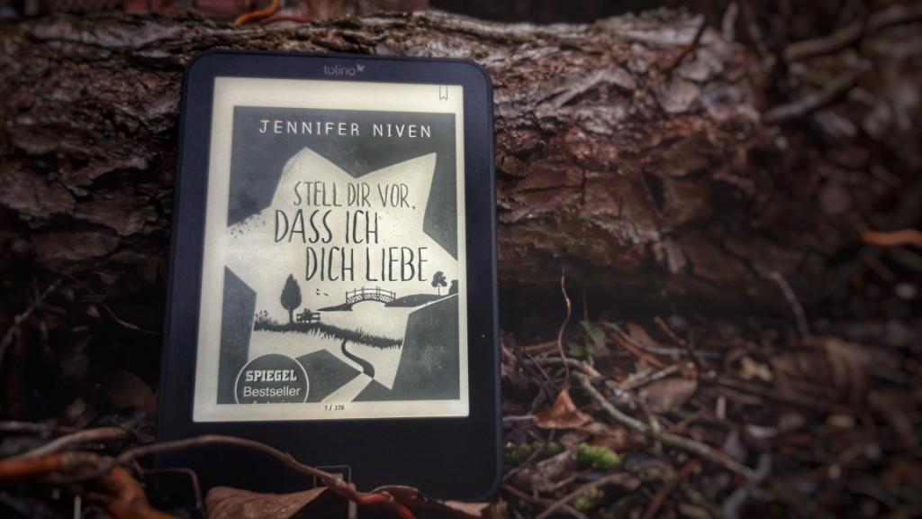 "Cover ""Stell dir vor, dass ich dich lieb"" auf dem E-Book-Reader"