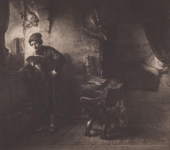 """Das Bild """"Ung læsende mand"""", 1903-1904, von Albert Repholtzund Willem Drost, Statens Museum for Kunst, Lizenz CC0"""