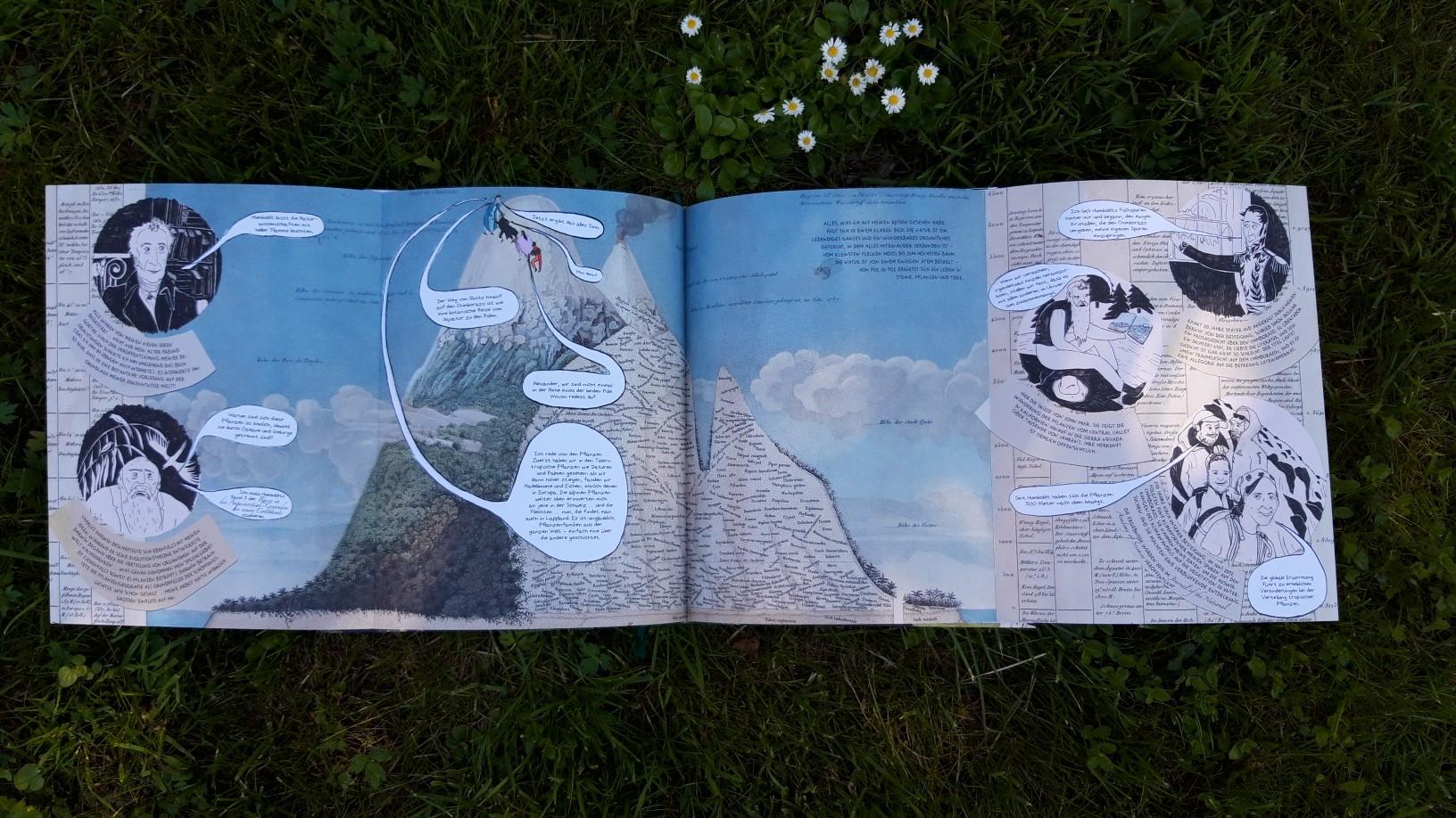 """Diese Seite lässt sich auf doppelte Größe aufklappen. - Blick ins Buch: Andrea Wulf """"Die Abenteuer des Alexander von Humboldt"""""""