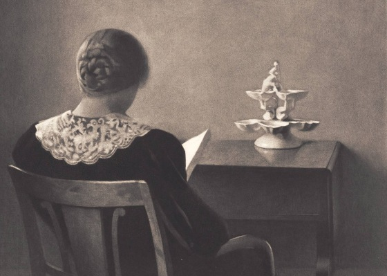 Læsende dame, 1925 Ilsted, Peter Statens Museum for Kunst, CC0