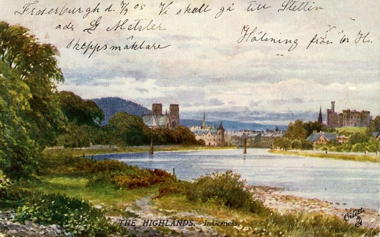 Notering på kortet: The Highlands. Inverness. Bohusläns museum. Public Domain (https://www.europeana.eu/en/item/916105/bhm_photo_UMFA54672_0726)