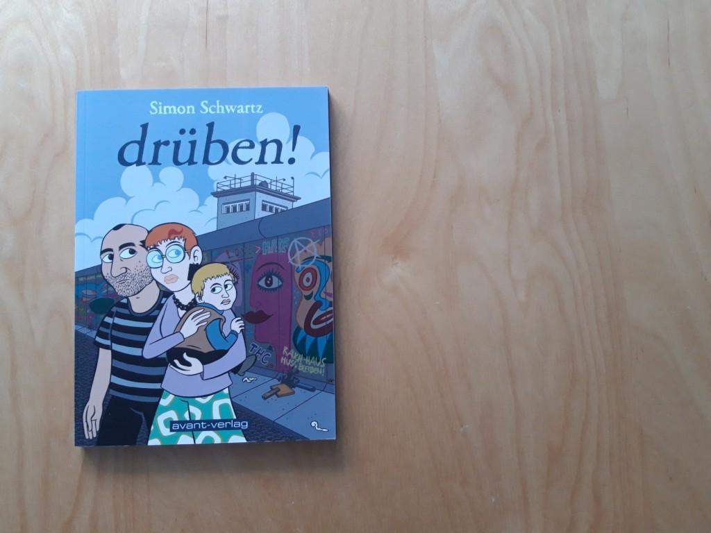 """Buchcover """"drüben!"""" von SImon Schwartz"""